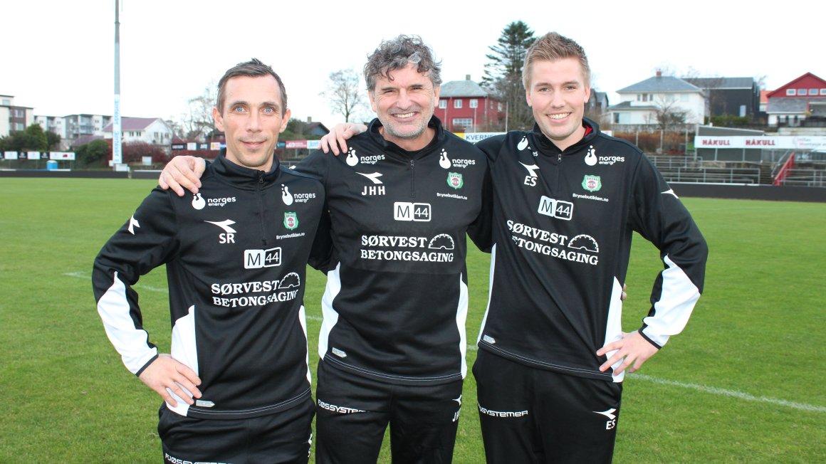 Det nye trenerteamet på plass